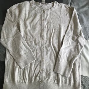 Beige Ann Taylor Loft button down cardigan